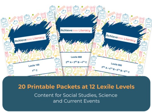 Achieve 3000 Literacy Practice Packets Answer Keys