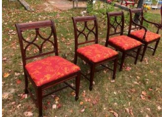 Free Set of Four Antique Chairs Reupholstered