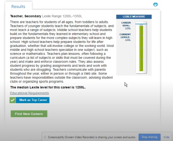 Method to check your Lexile level on Achieve 3000