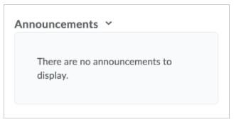 Announcements widget