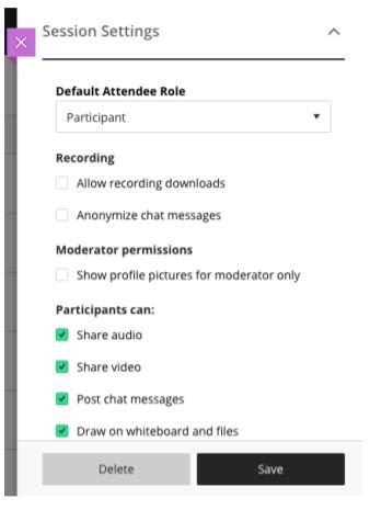 Default Participant Role