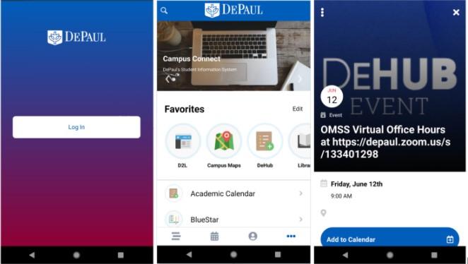 Get the iDePaul App Now