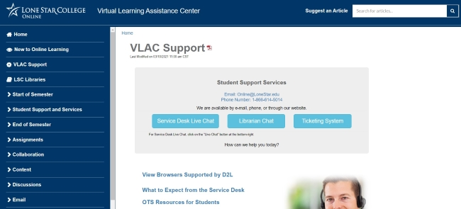 VLAC (Virtual Learning Assistance Center)