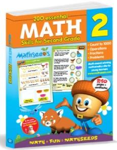 200 Essential Math Skills for Second Grade