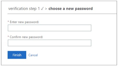 Enter your new password then re-enter your new password. Click Finish.