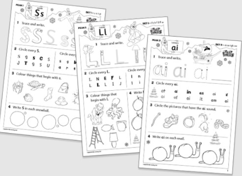Fast Phonics includes hundreds of printable worksheets.