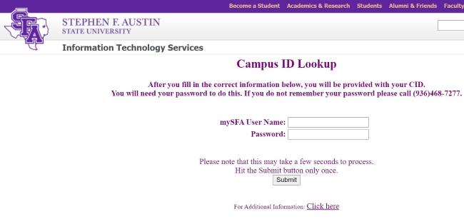 Lookup Campus ID
