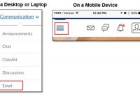 On a Desktop or a Mobile Device select Communication