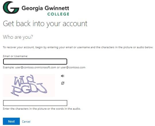 Password Reset GGC