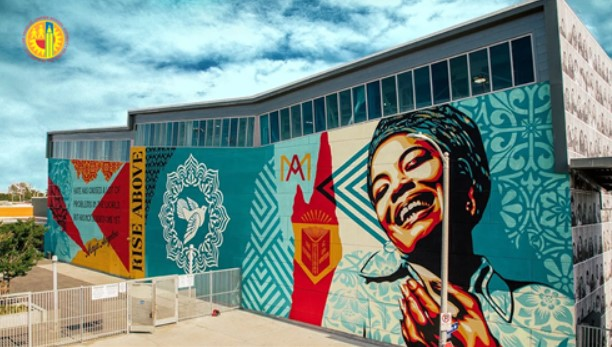 The Maya Angelou Mural Background