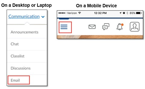 choose Email from the Communication menu.