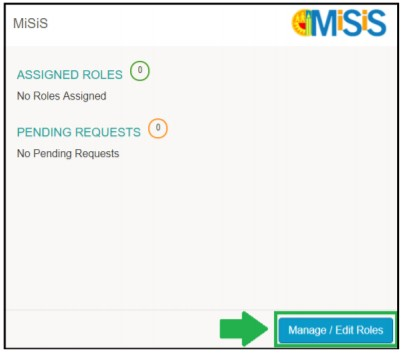 click on the Manageor Edit Roles