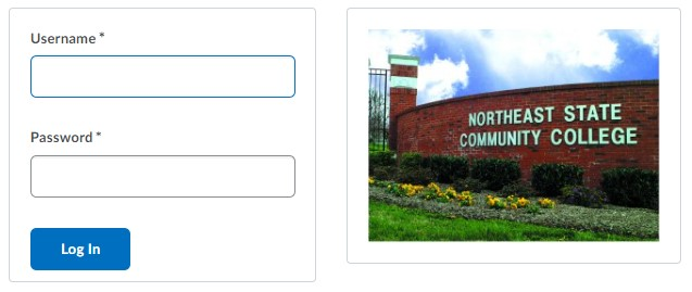 login to Brightspace D2L at Northeast State