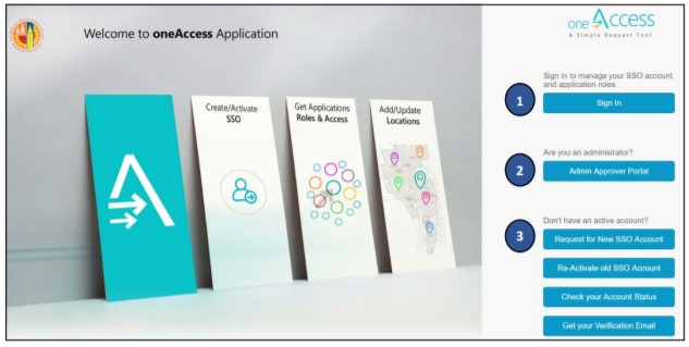 oneAccess – Landing Page