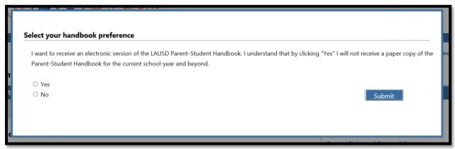 receive the Parent-Student Handbook via email