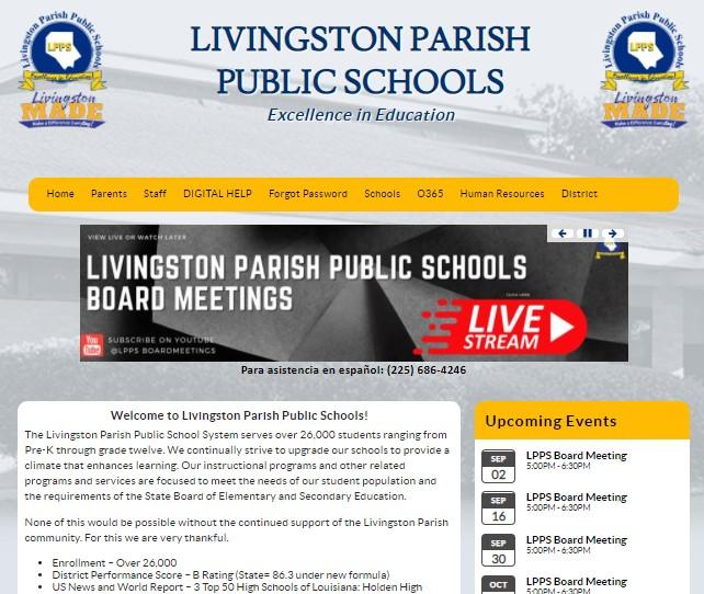 About Livingston Parish Public Schools