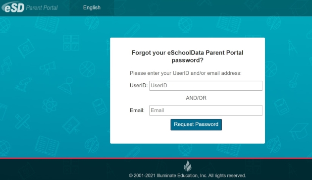 Forgot your eSchoolData Parent Portal password