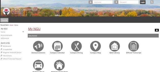 MyNGU Student Portal