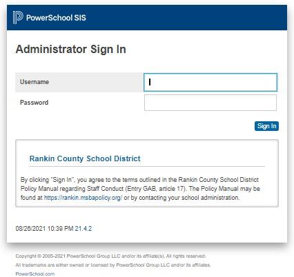 PowerSchool RCSD Administrator Portal