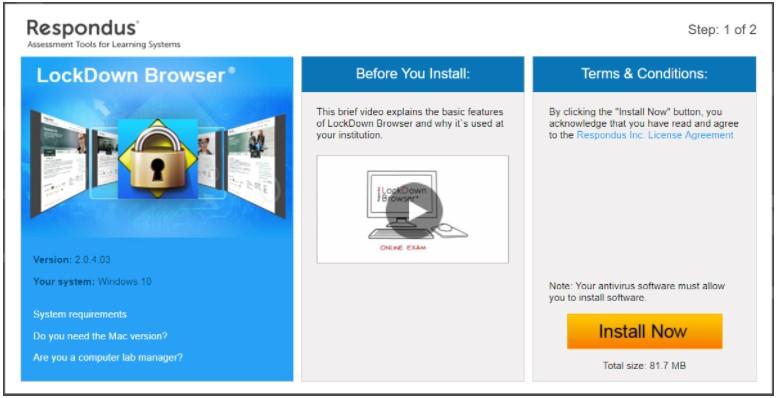 Respondus LockDown Browser Student Download