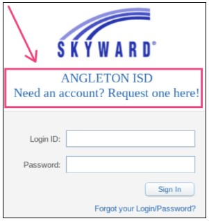 login with your ID and password