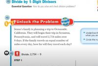 Divide by 1 Digit Divisors Lesson 2.2 Homework Answers