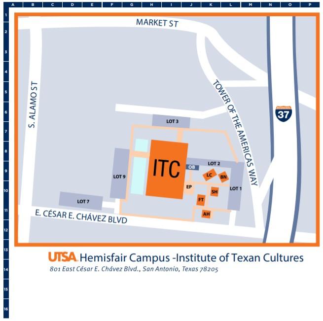 Hemisfair Campus Map