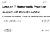 Lesson 7 Homework Practice Compute with Scientific Notation