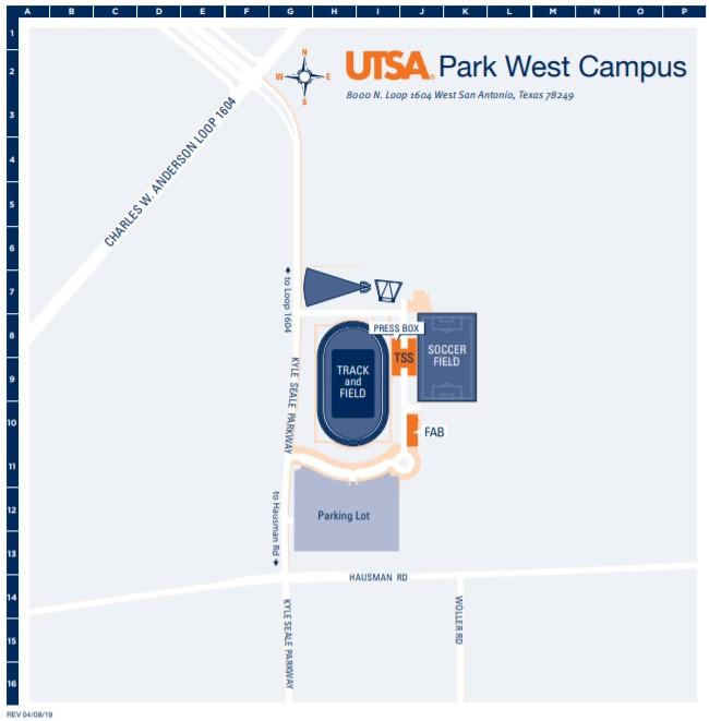 Park West Campus Map