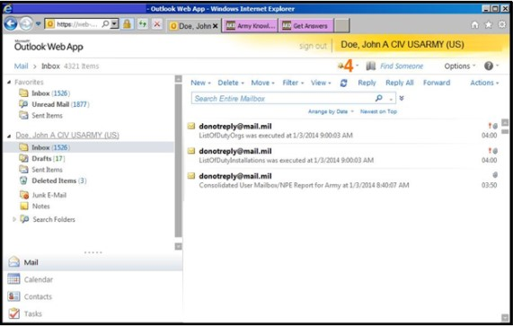 webmail interface (OWA) will open