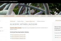 ACADEMIC AFFAIRS CALENDAR page.