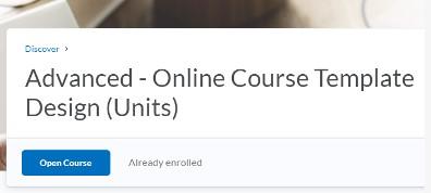 choose the Open Course button