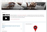 online template course